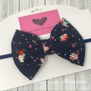 Other - Handmade navy blue large jersey knit headband